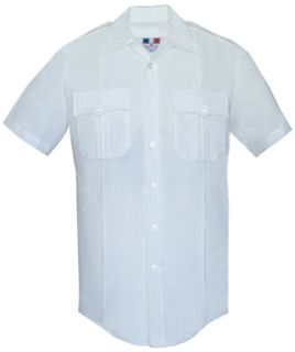 Mens White Short Sleeve Deluxe Tactical Shirt 68/30/2 Poly/Rayon/Lycra®;-
