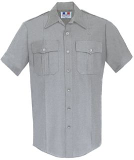 Mens Heather Grey Short Sleeve Deluxe Tactical Shirt 68/30/2 Poly/Rayon/Lycra®;-