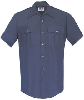 Mens LAPD Navy Short Sleeve Deluxe Tactical Shirt 68/30/2 Poly/Rayon/Lycra®;-Flying Cross