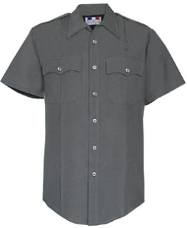 Mens Slate Grey Short Sleeve Deluxe Tropical Shirt 65/35 Poly/Rayon-Flying Cross
