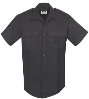 Mens Black Short Sleeve 68/30/2 Poly/Rayon/Lycra®; Shirt-