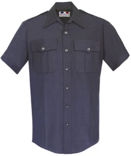 Mens Midnight Blue Short Sleeve Deluxe Tropical Shirt 65/35 Poly/Rayon-