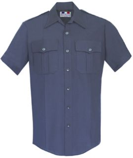 Mens LAPD Navy Short Sleeve Deluxe Tropical Shirt 65/35 Poly/Rayon-