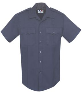 Men's LAPD Navy Short Sleeve 70/28/2 Poly/Rayon/Lycra®; Shirt