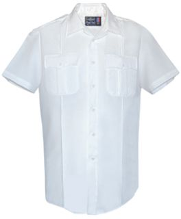 Mens White Short Sleeve Security Style 100% Visa®; System 3 Shirt-