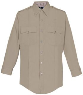 Mens Silver Tan Long Sleeve Security Style 100% Visa®; System 3 Shirt-