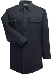 Mens 100% Wool LAPD Navy Long Sleeve Shirt-