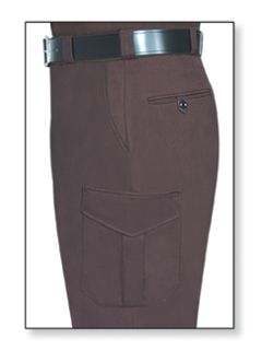 Mens Dark Brown T-11 Trouser, 65/35 Poly/Cotton, Twill Weave-