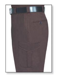 Womens Dark Brown T-11 Trouser, 65/35 Poly/Cotton, Twill Weave-