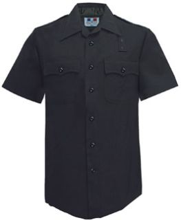 Mens 100% Wool LAPD Navy Short Sleeve Shirt-