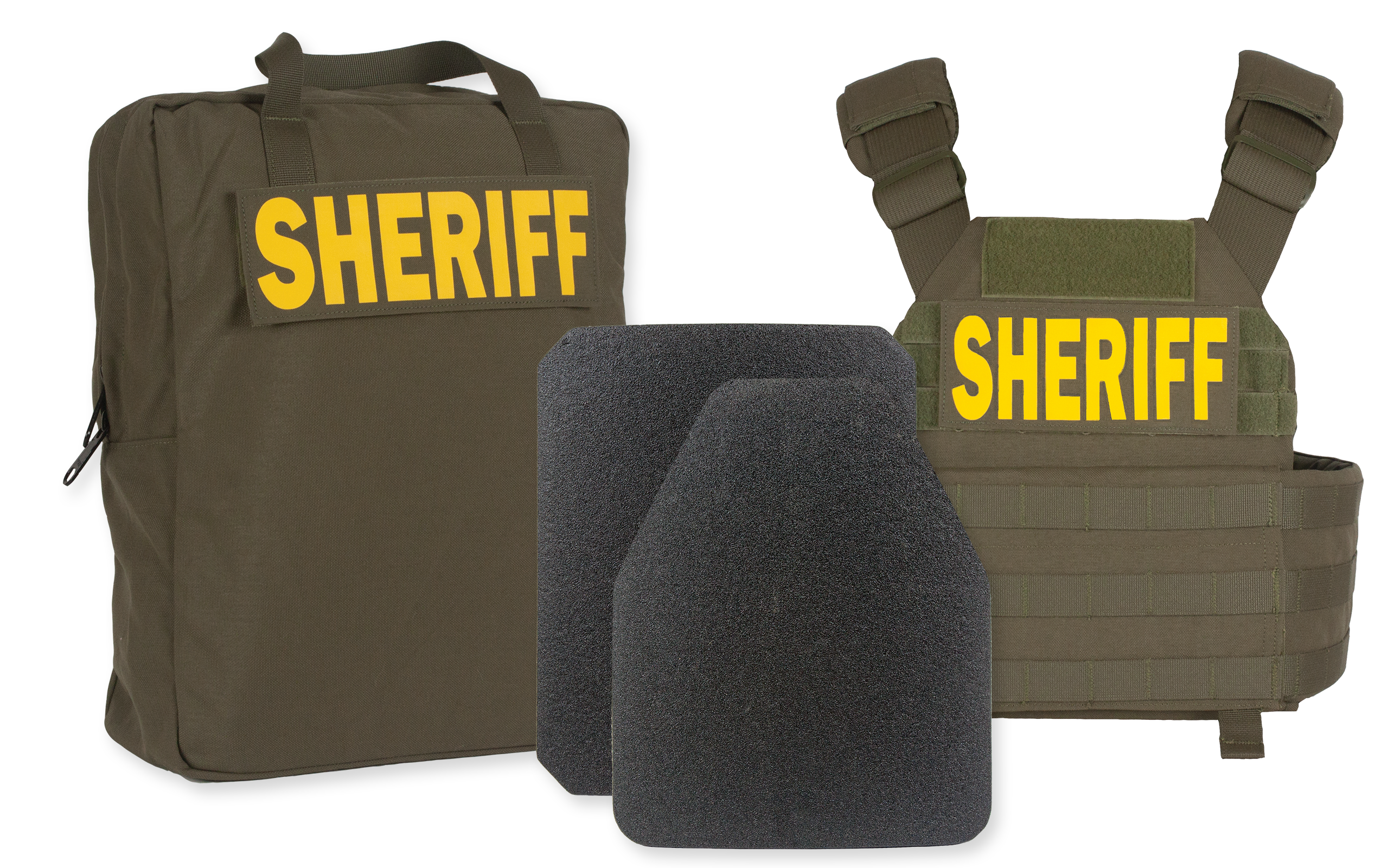 "GH-ASK-PH2-1808-D HRN-PH2 | Padded Shoulders, ID's, (2) 306-1808 10x12"" Plates, ECB, PASGT IIIA Helmet-"