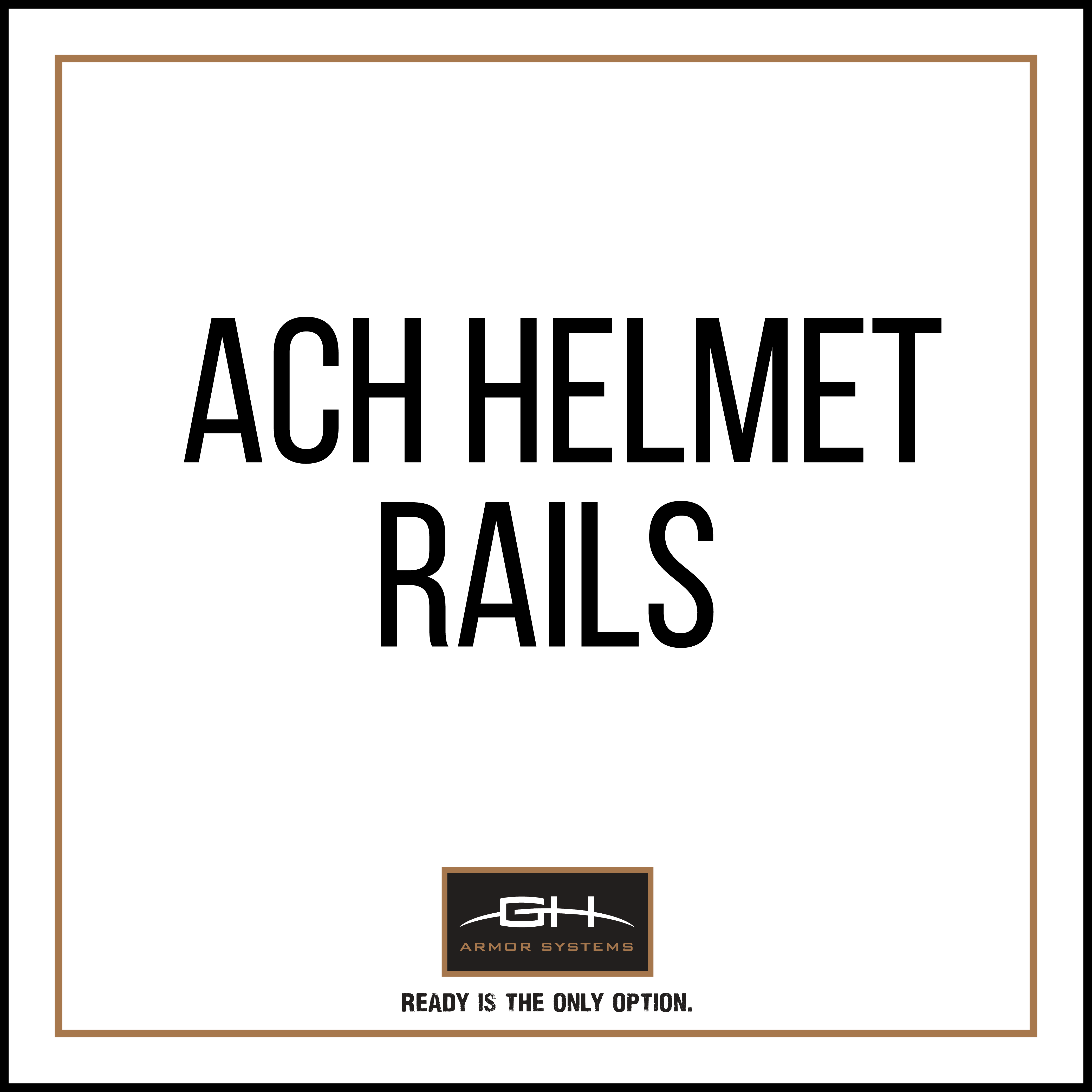 GH-HB1-ACH-RAIL1 Rails for ACH Helmet (MD/LG Only)