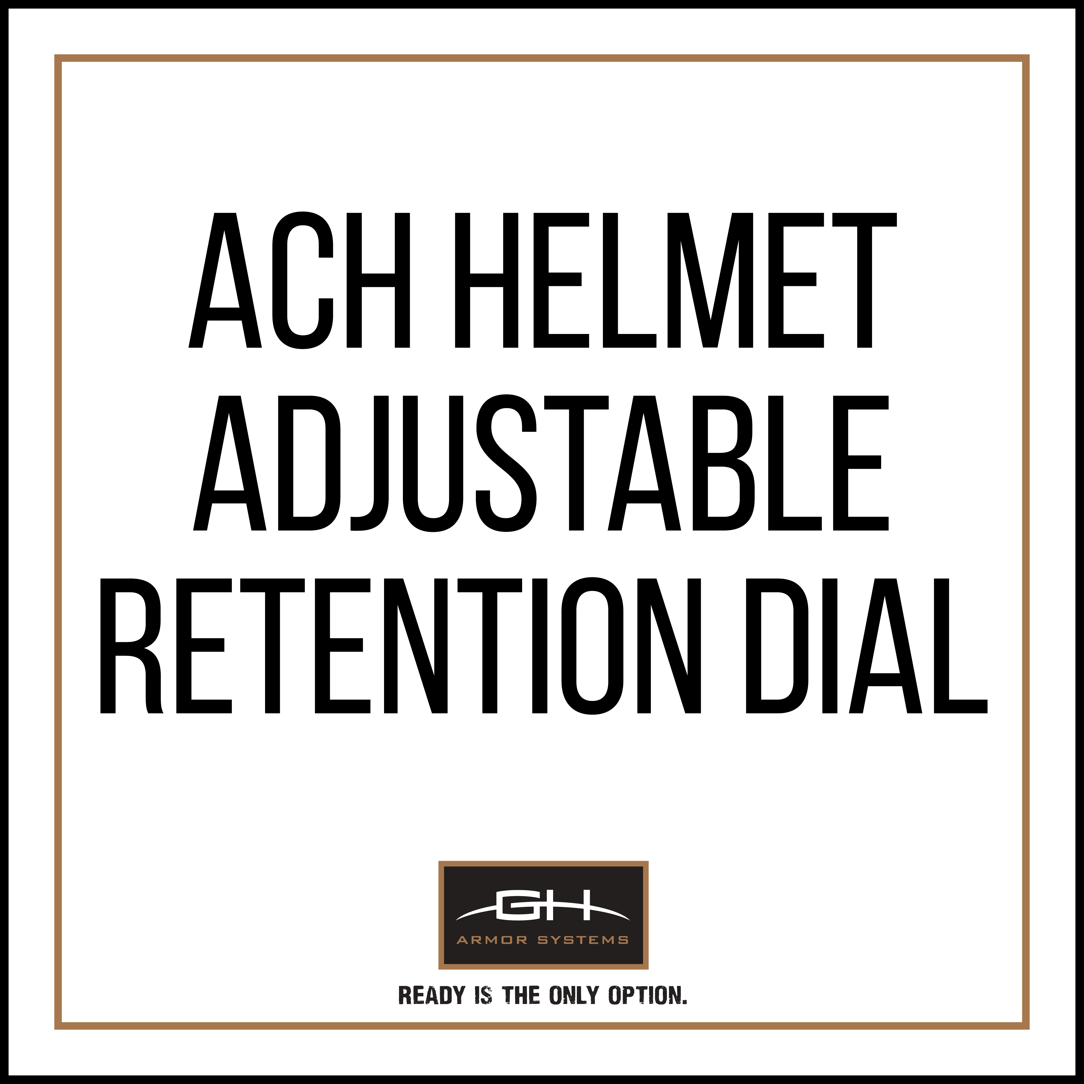 GH-HB1-A-RET1 Adjustable Retention Dial for ACH Helmet