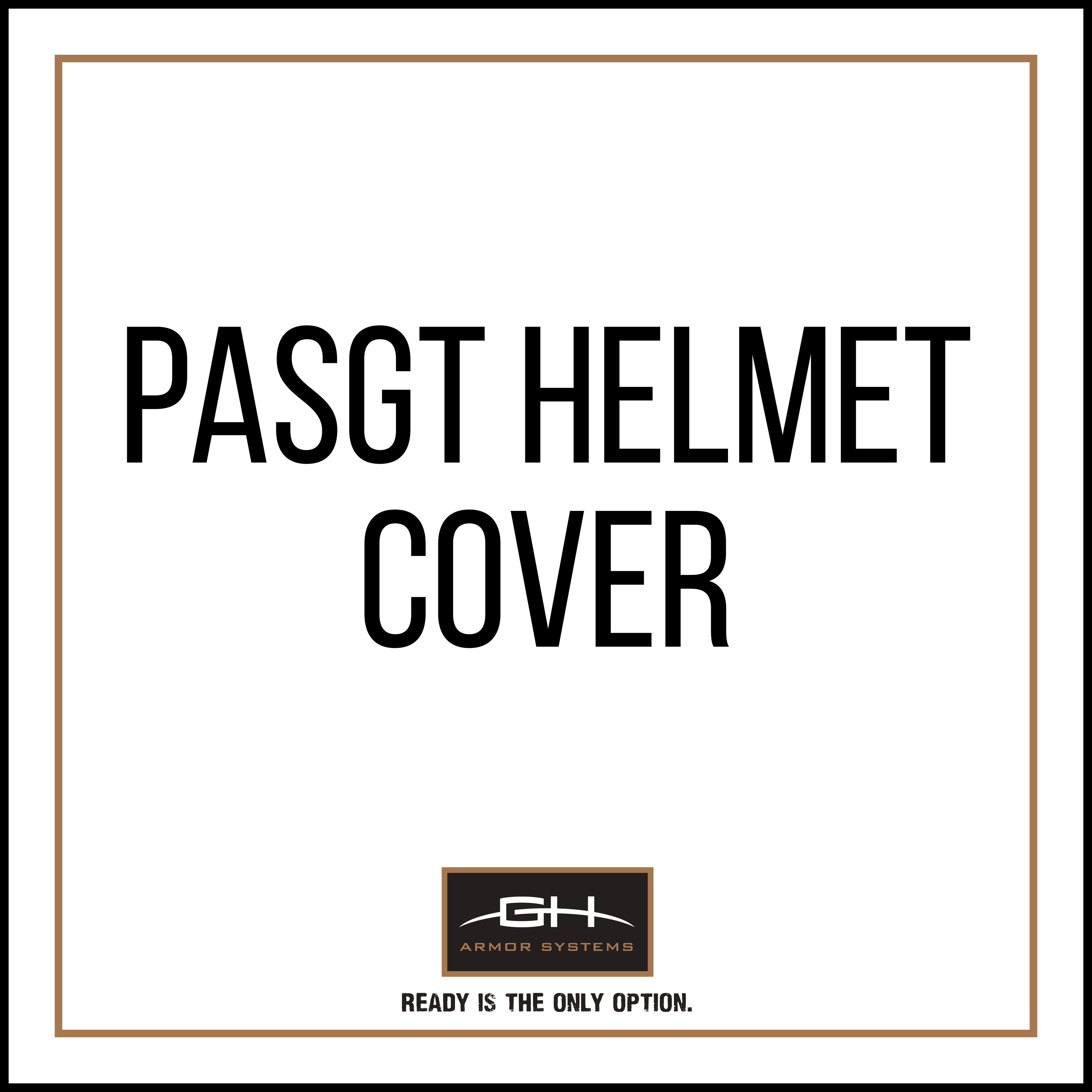 GH-HB1-COV-P Helmet Cover for PASGT Helmet-GH Armor Systems