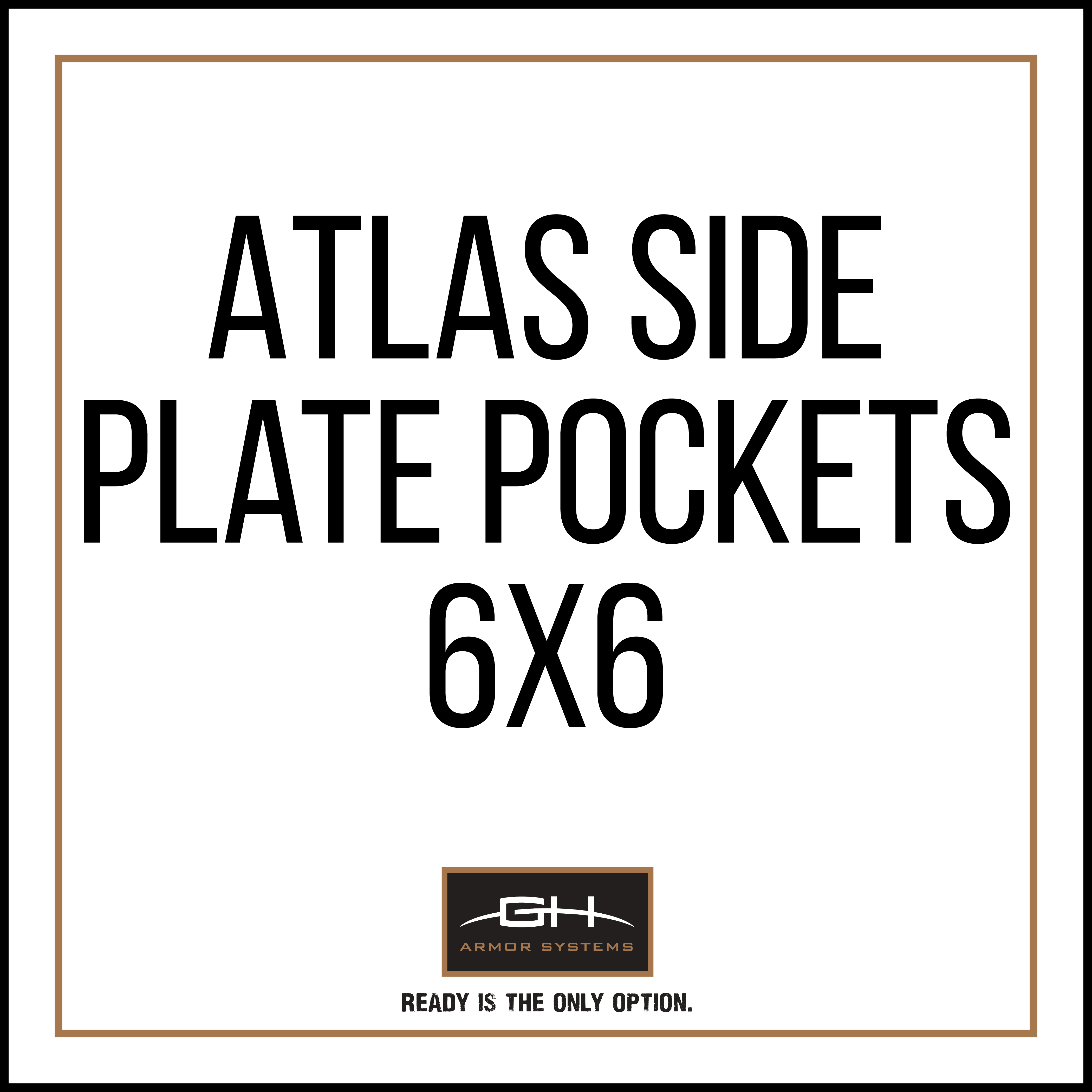 GH-AT-SIDE-6X6 Atlas Side Plate Pockets (Pair) - 6x6'