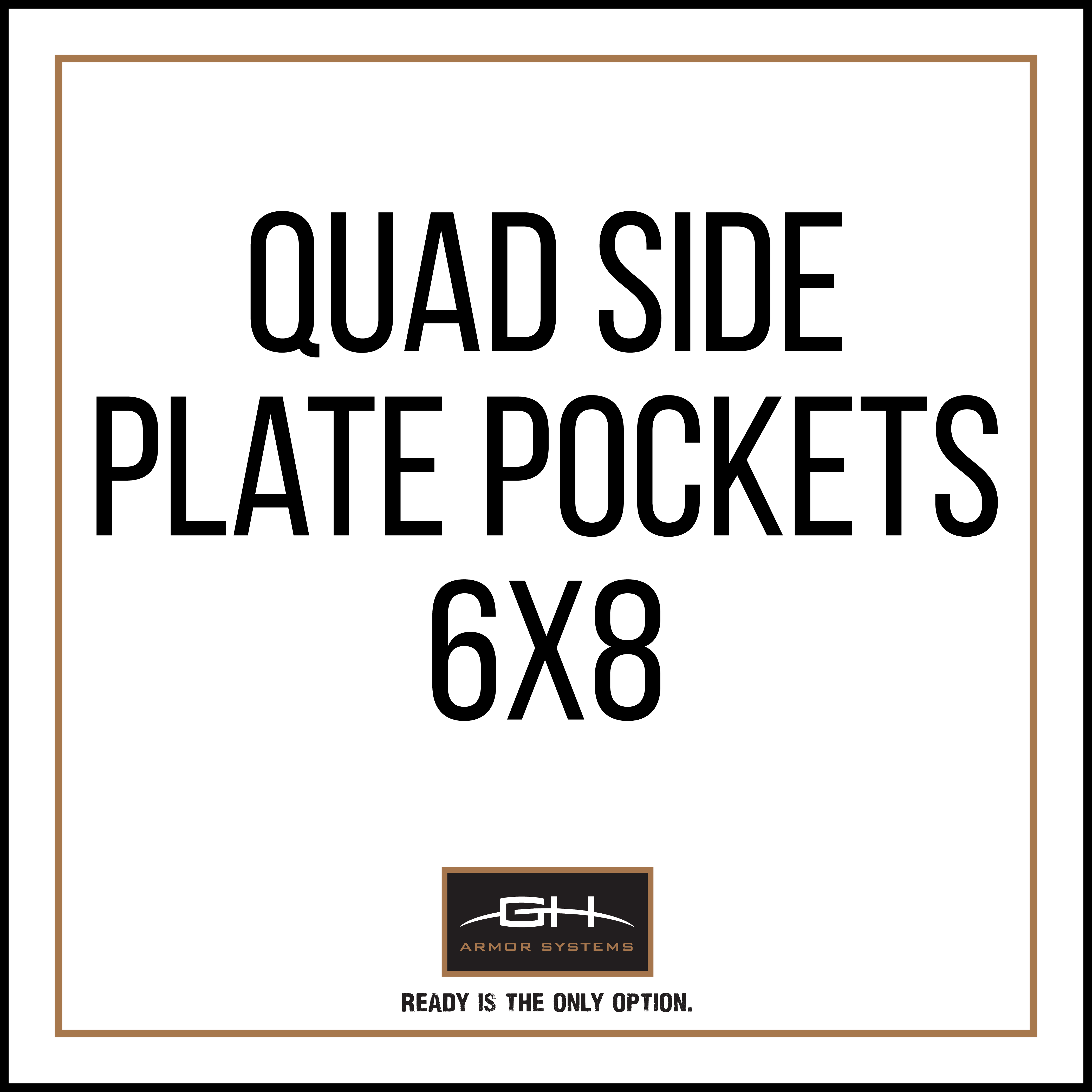GH-QD1-SIDE-6X8 QUAD Side Plate Pockets (Pair) - 6x8'-