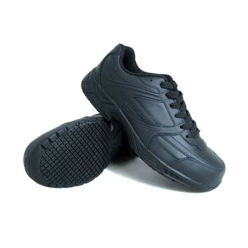 Genuine Grip Men Slip-Resistant Steel Toe Jogger Work Shoe #1011 - Black-Genuine grip