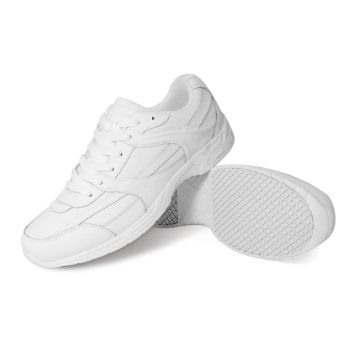 Genuine Grip Mens Slip-Resistant Work Shoe #1015 - White-