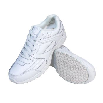 Genuine Grip Women Slip-Resistant Work Shoes #1115 White Leather-