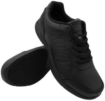 Genuine Grip Womens #160 Black Slip-Resistant Athletic Work Shoes - Wide Width Available-