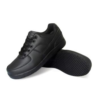 Genuine Grip Mens Slip-Resistant Athletic Work Shoes Wide #2010 - Black-Genuine grip