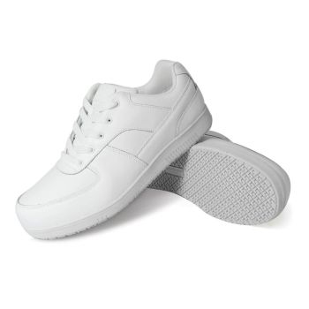 Genuine Grip Mens Slip-Resistant Athletic Work Shoes #2015 Wide - White-Genuine grip