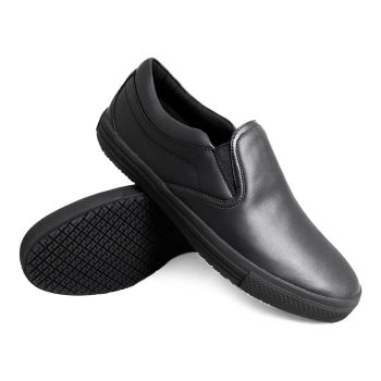 Genuine Grip Mens Slip-Resistant Retro Slip-on Work Shoes #2060 - Black-
