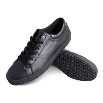 Genuine Grip Mens Slip-Resistant Retro Lace-up Work Shoes #2070 - Black-Genuine grip