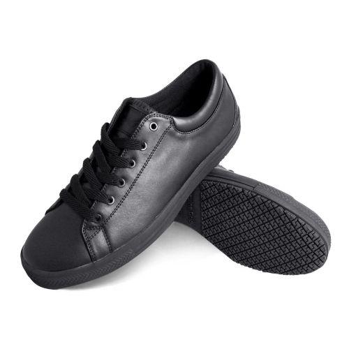 Genuine Grip Mens Slip-Resistant Retro Lace-up Work Shoes #2070 - Black-