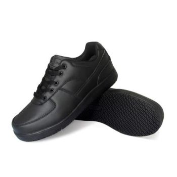 Genuine Grip Womens Slip-Resistant Athletic Work Shoes #210 Black - Wide-