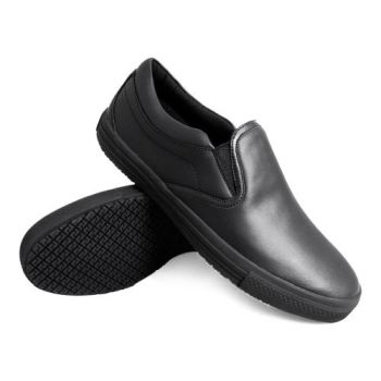 Genuine Grip Womens Slip-Resistant Retro Slip-on Work Shoes #260 - Black-