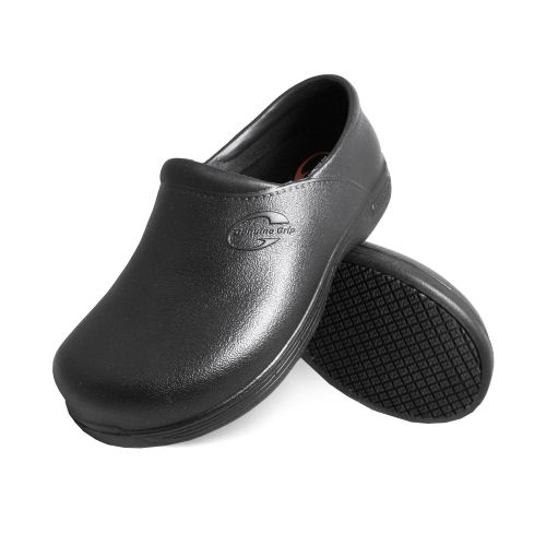 Genuine Grip Mens #3800 Slip-Resistant Waterproof Injection Work Clogs - Black-Genuine grip