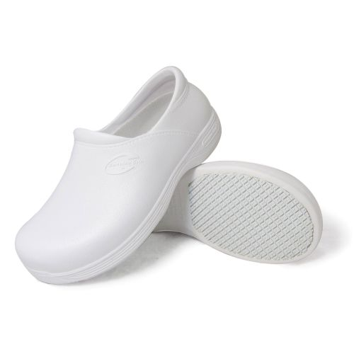Genuine Grip Mens Slip-Resistant Injection Clogs #3805 - White-