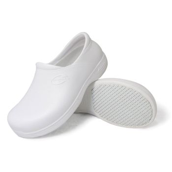 Genuine Grip Womens #385 White Slip-Resistant Injection Clogs-