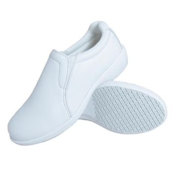 Genuine Grip Women Slip-Resistant Slip on Casual Shoes #415 - White-