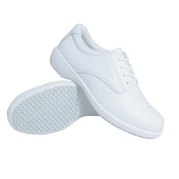 Genuine Grip Women Slip-Resistant Casual Oxford Shoes #425 - White-Genuine grip