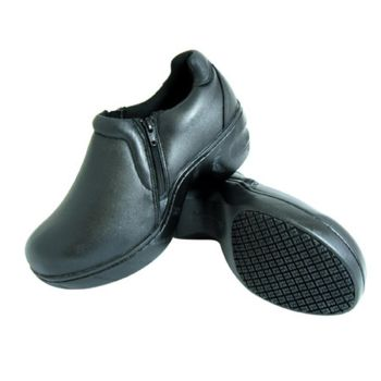 Genuine Grip Women Slip-Resistant Slip on Work Shoes #460 Black-Genuine grip