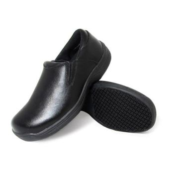 Genuine Grip Mens Slip-Resistant Slip-On Work Shoe #4700 - Black-Genuine grip