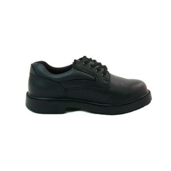 Genuine Grip Womens Slip-Resistant Steel Toe EH Work Oxford #710 Black - Wide-Genuine grip