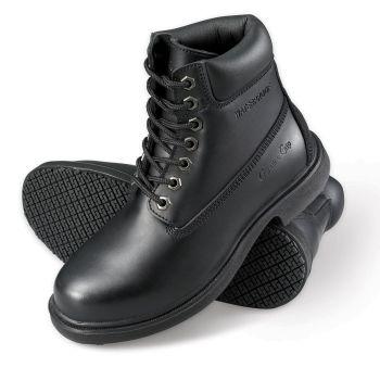 Genuine Grip Mens Slip-Resistant Waterproof Steel Toe Wide Work Boot #7161 - Black-