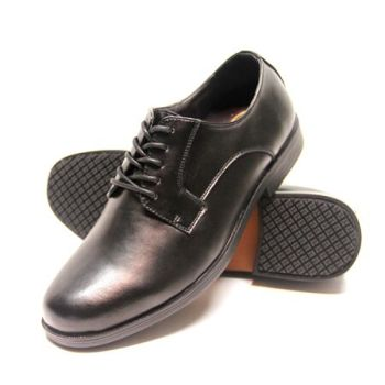 Genuine Grip Womens #940 Black Slip-Resistant Oxfords Dress Shoes - Wide Width Available-