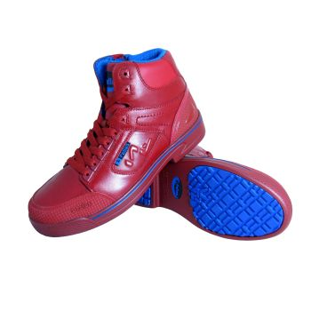 S Fellas by Genuine Grip Mens #5013 Composite Toe Stealth Work Boots - Red-S Fellas by Genuine Grip