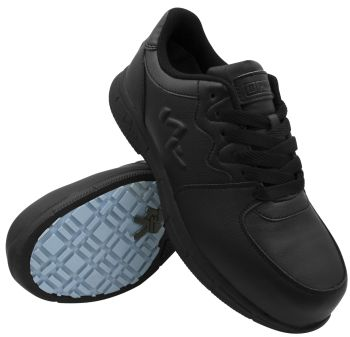S Fellas by Genuine Grip Womens #520 Black Comp Toe Athletic Work Shoes-S Fellas by Genuine Grip