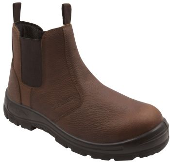 S Fellas by Genuine Grip Mens #6041 Hercules Comp Toe Twin-Gore Work Boots - Brown-S Fellas by Genuine Grip