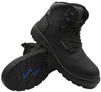 "S Fellas by Genuine Grip Mens #6050 Poseidon Comp Toe Waterproof 6"" Hiker Work Boot Wide Width Available - Black-S Fellas by Genuine Grip"