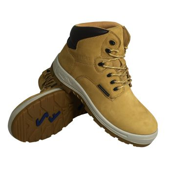 "S Fellas by Genuine Grip Mens #6052 Poseidon Comp Toe Waterproof 6"" Hiker Work Boot Wide Width Available - Wheat-S Fellas by Genuine Grip"