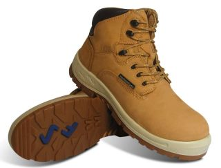 "S Fellas by Genuine Grip Mens #6052 Poseidon Comp Toe Waterproof 6"" Hiker Work Boot Wide Width Available - Wheat-"