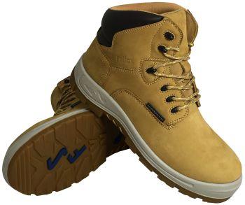 """S Fellas by Genuine Grip Mens #6062 Poseidon Soft Toe Waterproof 6"""" Hiker Work Boot - Wheat"""