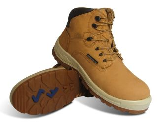 "S Fellas by Genuine Grip Mens #6062 Poseidon Soft Toe Waterproof 6"" Hiker Work Boot - Wheat-"