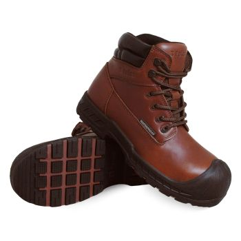 S Fellas by Genuine Grip Mens 6100 Vulcan Comp Toe Puncture Resistant Work Boot - Brown-